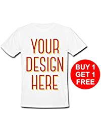 Add Your Own Custom Text Name Personalized Message or Image Unisex T-Shirt (Large)