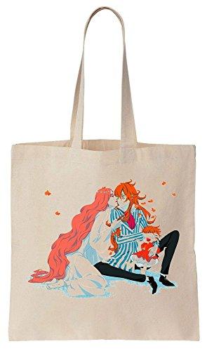 Artwork Reutilizables Bag Granmammare Compras Algodón Tote de Bolsos de Fujimoto Ponyo And ztqXwdpxa