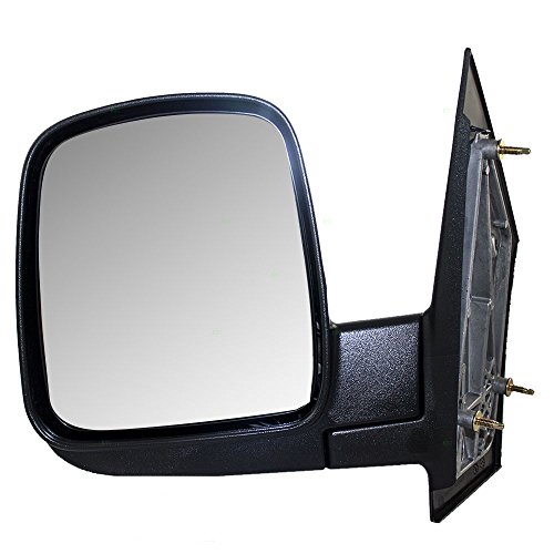 07 Express Chevy Mirror (Drivers Manual Side View Mirror Textured Replacement for Chevrolet GMC Van 15937986)