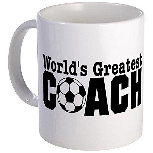 CafePress World's Greatest Soccer Coach Mug Unique Coffee Mug, Coffee Cup