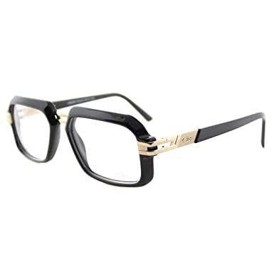 486880e6431d Amazon.com  Cazal 6004 001 Unisex Shiny Black Gold Plastic 56 ...