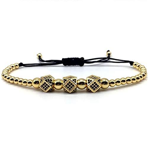 YASEF Bracelet Luxury Royal Crown Charm Bracelet Men Fashion Fahsion New Gold Braided Adjustable Men Bracelet for Jewelry Gift