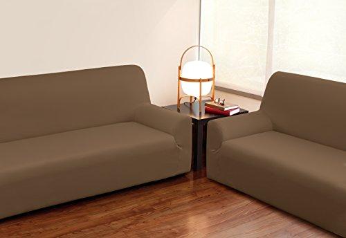 VELFONT - Bielastischer Sofabezug Roma - 3-Sitzer -Schokolade - verfügbar in verschiedenen Größen und Farben