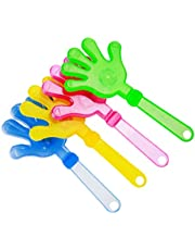 jojofuny 5PCS Mini Hand Clappers Noisemakers LED Light Up Hand Clappers Luminous Palm Clapping Birthday Party Supplies ( 28CM, Random )