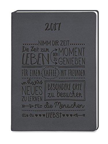 Timer Schwarz 2017: Terminplaner in Lederoptik