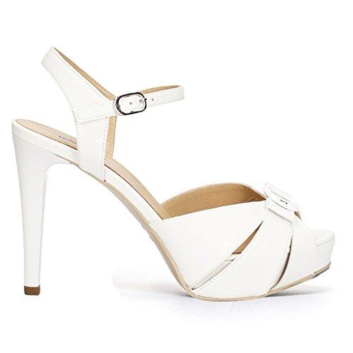 Nero Women's Shoes with Bianco Strap Giardini rvSq1r