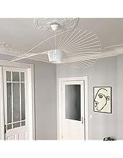 Retro Vertigo Kroonluchter Hanglamp, Glasvezel + Vezel Doek Hoed Modern Design Voor Keuken, Hal, Eetkamer, Woonkamer, Restaurant E27 Verstelbare Hoogte