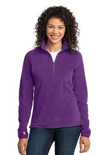 Port Authority Women's Microfleece 1/2 Zip Pullover 4XL Amethyst Purple