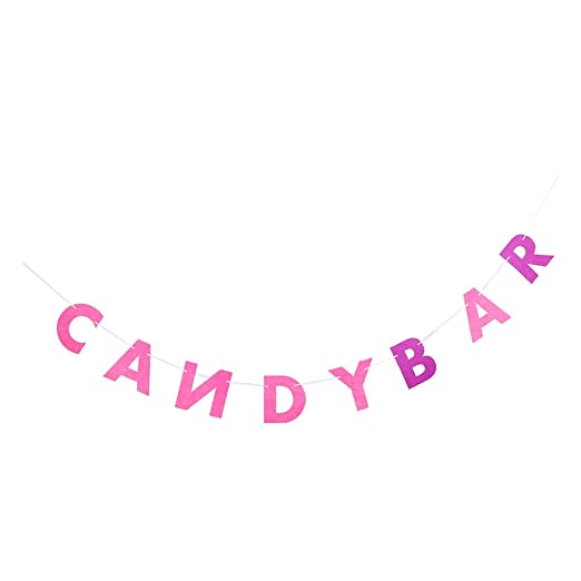 Candy Bar Letters Felt Bunting Banner Decoraciones De Fiesta ...