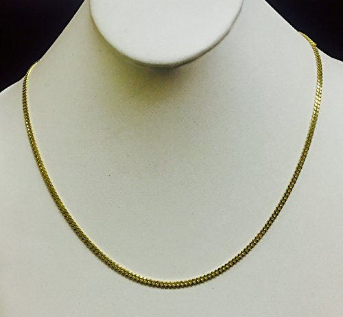 14kt-30-Yellow-Gold-30mm-Diamond-Cut-Gourmette-Curb-Chain-with-Lobster-Clasp