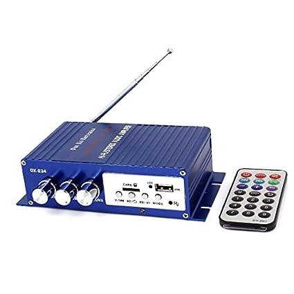 2 Channel Car Audio Amplificador Leitor de Cartão w USB