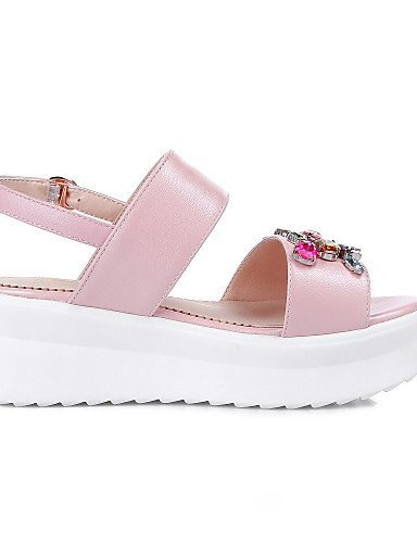 ShangYi Womens Shoes Platform Platform / Slingback / Creepers / Open Toe Sandals Outdoor / Dress / Casual Blue / Pink / White White