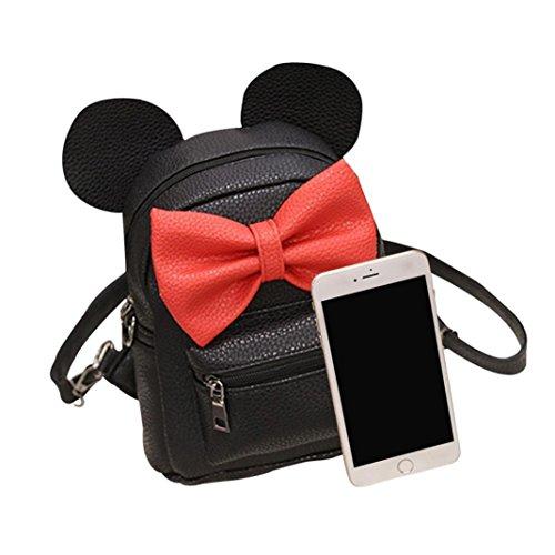 Mickey Ears Backpack,Realdo Female Sweet Bow Mini Bag Women's Travel Backpack Daypack