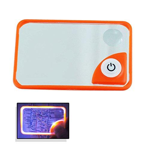 Credit Card-Size Pocket Magnifier with LED Light 1.5x & 4x - Tough Polycarbonate Lens