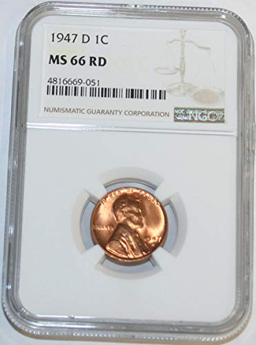 1947 D Lincoln Cent MS66 NGC RD