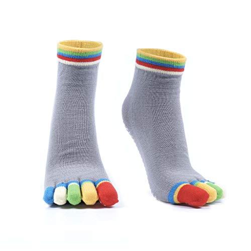 Snailify Women's Yoga Socks Non Slip Grips Anti Skid Yoga Sock Full Toe Socks for Women - Pilates Ballet Barre