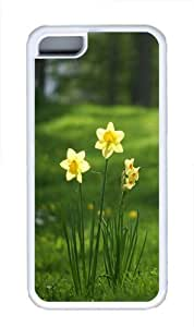 TYH - iPhone 4/4s Case, iPhone 4/4s Cases -Daffodils flowers Custom TPU Soft Case Cover Protector for iPhone 4/4s White ending phone case