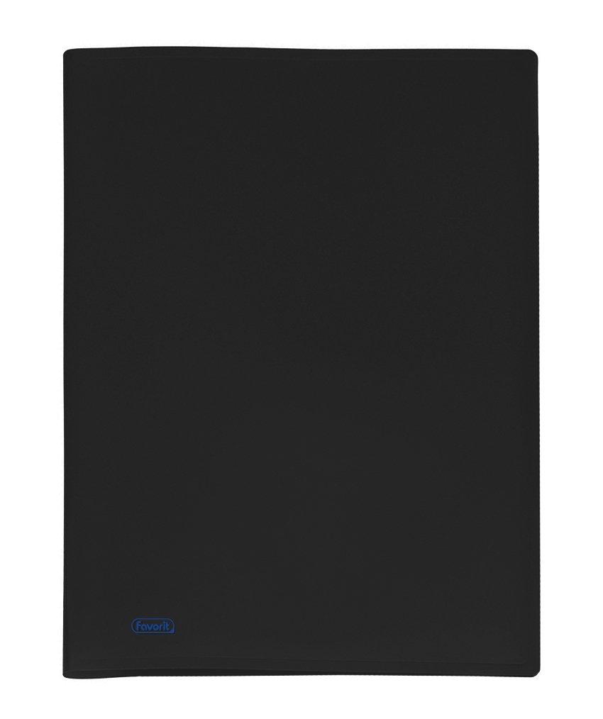 Favorit 100460241 Portalistino con 10 Buste Formato Interno 22x30 cm, Nero Hamelin Brands 180847