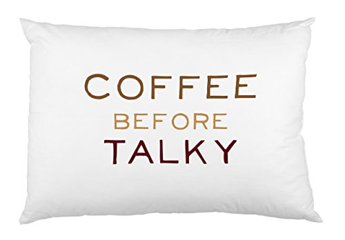 One Bella Casa Coffee Before Talky Pillowcase by OBC, Standard 20