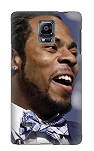 Dzezgs-6424-twzep Floatingleaf Seattle Seahawks Nfl Football 19 Durable Galaxy Note 4 Tpu Flexible Soft Case With Design by supermalls