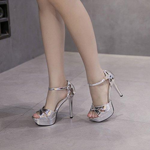 Material Sandalias Sintético Plata Vestir Inconnu De Mujer 8tOw8U