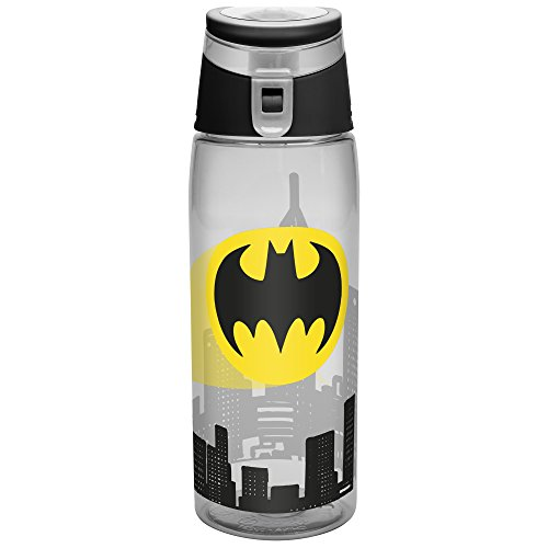 (Zak Designs DC Comics 25 oz. Wide-Mouth Water Bottle, Batman)