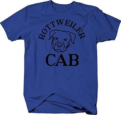 Rottweiler cab Silhouette Funny Dog pet Owner Driving car Love Tshirt Small Royal Blue