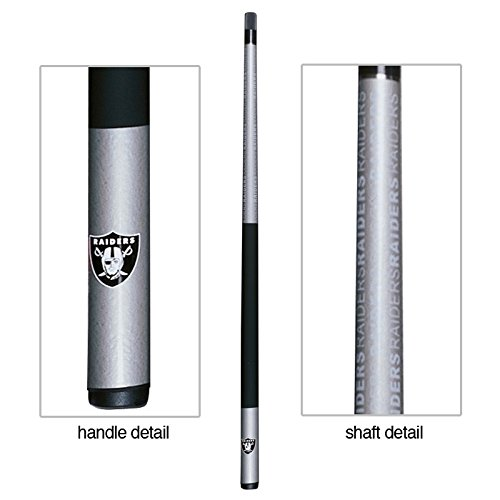(Eliminator NFL Oakland Raiders Billiard Pool Cue Stick with CaseCue)