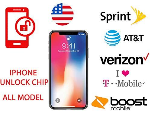 GeekCA-TECH Premium Unlock CHIP iPhone Sprint ATT TMOBILE 5S SE 6 6S 7 8 Plus X Turbo R SIM