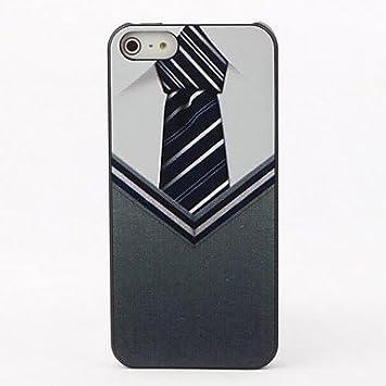 Camisa y corbata Caso duro de protección para el iPhone 5/5S ...