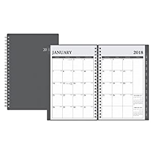 "Blue Sky 2018 Weekly & Monthly Planner, Twin-Wire Binding, 5"" x 8"", Enterprise"