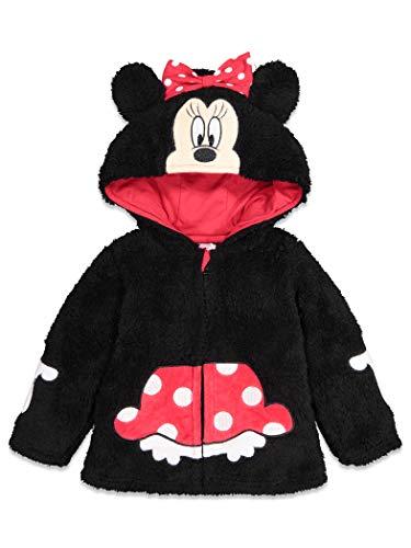 Disney Minnie Mouse Toddler Girls Sherpa Fleece Costume Zipper Hoodie 3T