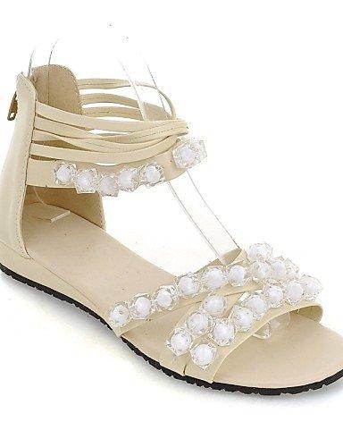 ShangYi Sandaletten für Damen Damenschuhe-Sandalen-Outddor / Kleid / Lässig-Kunstleder-Niedriger Absatz-Wedges / Zehenfrei-Schwarz / Grün / Orange / Beige Beige