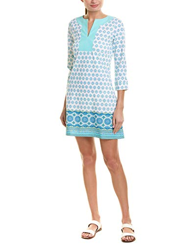(Cabana Life Women's Signature Silhouette 3/4 Sleeve Tunic Swim Cover Up Hidden Cove M )
