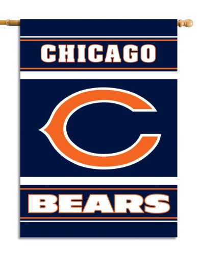 Fremont Die NFL Chicago Bears 2-Sided 28-by-40-Inch House Banner (House Bears Flag)