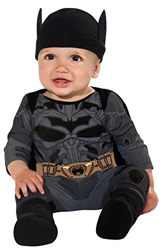 Batman Costume 12 Month Old (Batman The Dark Knight Rises Batman Onesie, Multi-Colored, Infant (6-12 Months))
