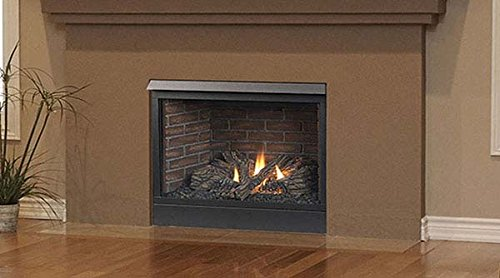 Majestic Patriot Convertible Direct Vent Fireplace with Intermittent Pilot - 33 Inch Convertible Direct Vent Fireplace