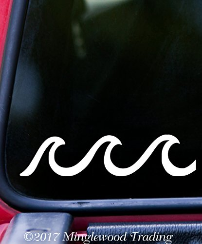 Beach Decal Sticker (WAVES Vinyl Decal Sticker 5