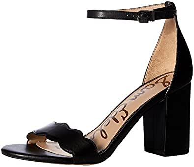 Sam Edelman Women's Odila Heeled Sandal, Black Leather, 5 M US