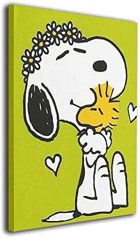 モダン インテリア絵画 Snoopy アートパネル パネル アートフレーム インテリア キャンバス 魅力的な芸術 ピーナッツ スヌーピー Snoopy 40x50cm(フレームレス)