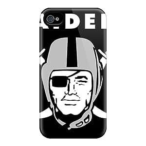 Great Hard Phone Case For Iphone 4/4s (AsV16983ppLM) Custom Beautiful Oakland Raiders Image