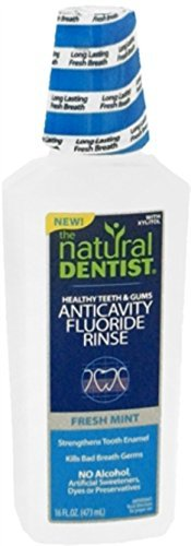 The Natural Dentist Healthy Teeth Anti-Cavity Fluoride Rinse Fresh Mint 16.90 oz (Pack of 4) by Natural Dentist