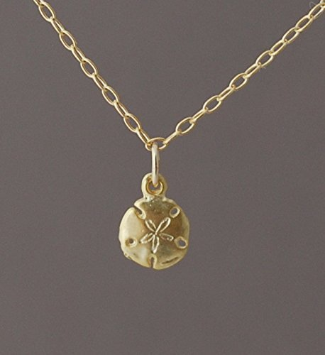 Tiny Sand Dollar Necklace Gold or Silver