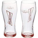 Budweiser Jogo com 02 Copos para Cerveja Ambev Transparente 400Ml