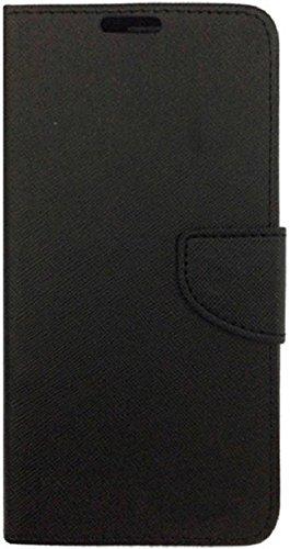 Stylish Luxury Mercury Magnetic Lock Diary Wallet Style Flip Cover Case forMi Redmi 3s Prime  Black