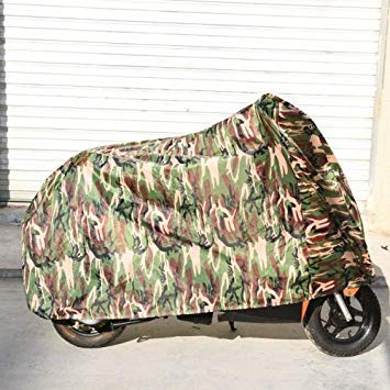 Uniqus 190T Polyester Taffeta All Season Waterproof Sun Motorcycle Mountain Bike Cover Dust & Anti-UV Outdoor Camouflage Bicycle Predector, Size  L