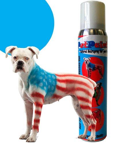 Fixatif capillaire en aérosol (Beagle bleu) de couleur peinture pour animaux de compagnie