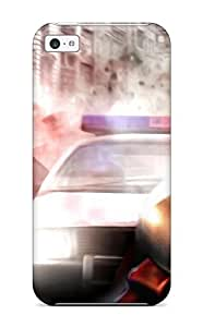 Fashion Tpu Case For Iphone 5c- Men With Sunglases Followed By Police Defender Case Cover