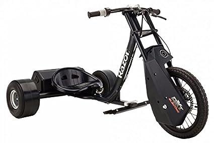RAZOR DXT Electric Drift Trike (Black) Three-Wheeled Scooters at amazon