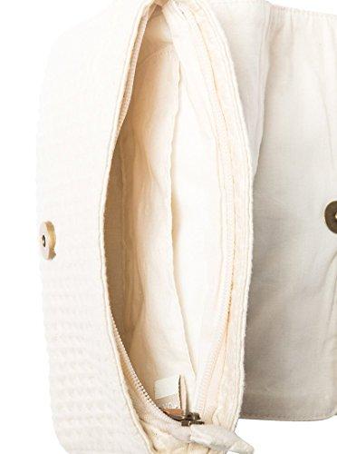 pour Lov Bahamas en ERJBP03668 main Blanc Femme à Sac toile Roxy 40wTAqxq